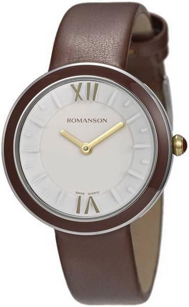 Женские часы Romanson RL3239LC(WH)BN romanson rl 0358q lg wh