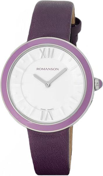 Женские часы Romanson RL3239LW(WH)PUR romanson rl 6a18q lw wh wh