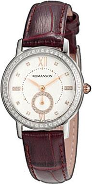 Женские часы Romanson RL3240QLJ(WH)BN romanson rl 0358q lg wh