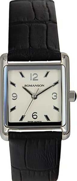 Женские часы Romanson RL3243LW(WH)BK romanson rl 6a18q lw wh wh