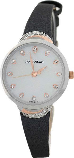 Женские часы Romanson RL4203QLJ(WH)GR роскошные золотые часы женские кварцевые стальные наручные часы повседневные женские наручные часы женские часы