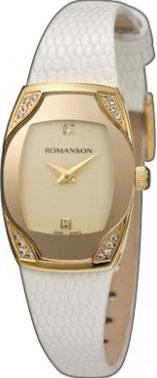 Женские часы Romanson RL4204QLG(GD)WH женские часы romanson rm8276lg gd