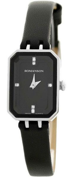 Женские часы Romanson RL4207LW(BK)BK romanson rm 6a31l lw wh