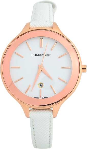 Женские часы Romanson RL4208LR(WH)WH romanson rl 0358q lg wh