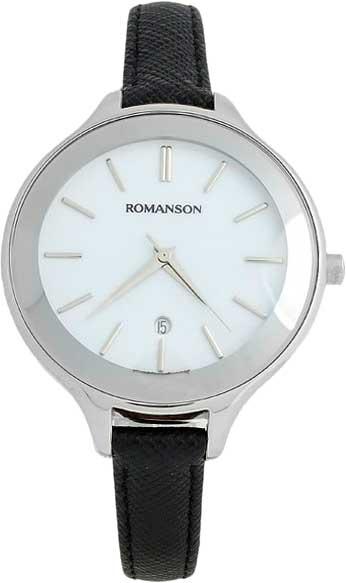 Женские часы Romanson RL4208LW(WH)BK romanson rl 6a18q lw wh wh