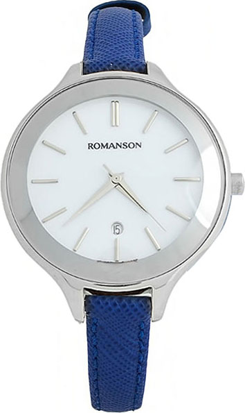 Женские часы Romanson RL4208LW(WH)BU romanson rl 6a18q lw wh wh