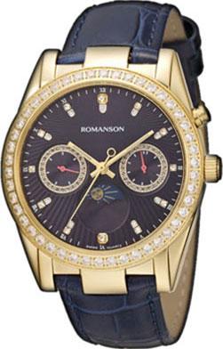 Женские часы Romanson RL4210QLG(BU) romanson rl 6a11q lw bu