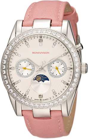 Женские часы Romanson RL4210QLW(WH)PINK opi лак для ногтей a great opera tunity venice collection 15мл