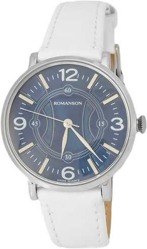 Женские часы Romanson RL4217LW(BU)WH romanson rl 6a18q lw wh wh