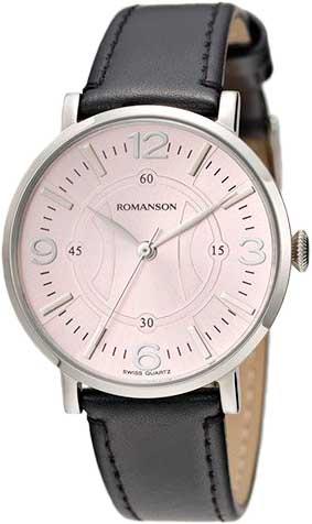 Женские часы Romanson RL4217LW(PINK)BK