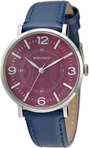 Женские часы Romanson RL4217LW(PUR)BU romanson rl 4217 lw bu wh