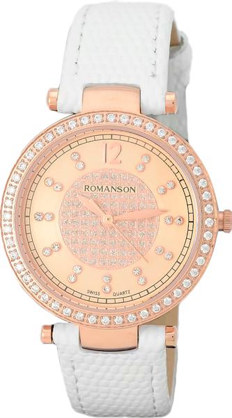 Женские часы Romanson RL6A03QLR(RG) romanson 5162 ql rg rl
