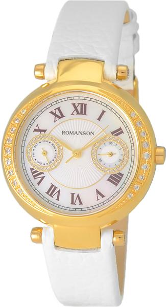 Женские часы Romanson RL6A18QLG(WH) romanson rl 0358q lg wh