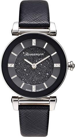цена Женские часы Romanson RL6A29LLW(BK) онлайн в 2017 году