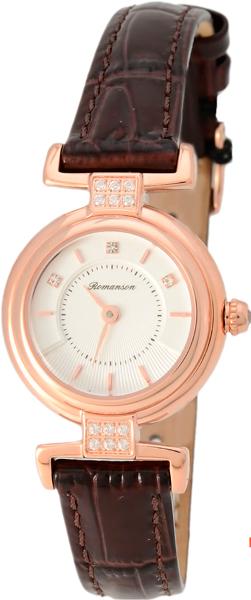 Женские часы Romanson RL6A33QLR(WH) romanson rl 0358q lg wh