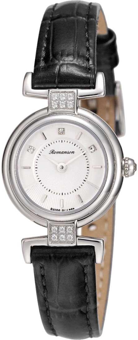 Женские часы Romanson RL6A33QLW(WH)BLACK romanson rl 0358q lg wh