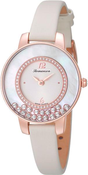 Женские часы romanson rl7a30qlr(wh)