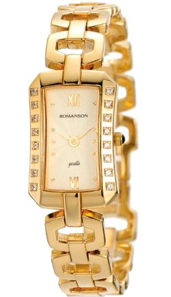 Женские часы Romanson RM0350QLG(GD) женские часы romanson rm8276lg gd