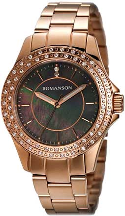 Женские часы Romanson RM1209QLR(BK) romanson rm 6a31c lw wh