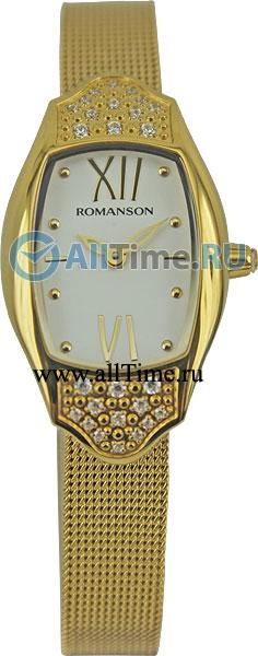 Женские часы Romanson RM1266QLG(WH) romanson rm 6a31c lw wh