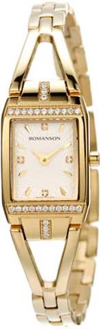 Женские часы Romanson RM2651QLG(WH) romanson rm 6a31c lw wh