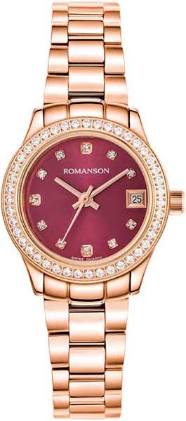 Женские часы Romanson RM4205QLR(PUR) romanson rm 6a31c lw wh