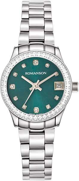 Женские часы Romanson RM4205QLW(GN)