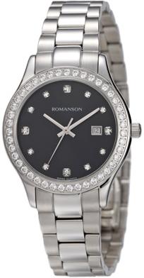 Женские часы Romanson RM4205QUW(BK)