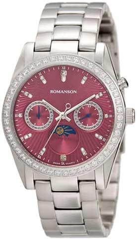 Женские часы Romanson RM4210QLW(PUR) romanson rm 6a31c lw wh