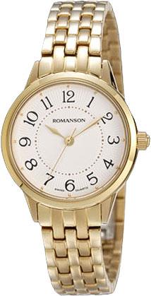 Женские часы Romanson RM4224LG(WH)