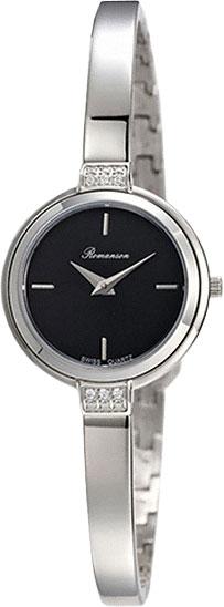 Женские часы Romanson RM4234QLW(BK) romanson rm 6a31c lw wh