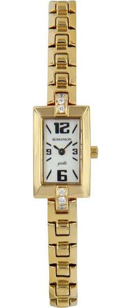 Женские часы Romanson RM5113QLG(WH) romanson часы romanson rm5113qlc wh коллекция giselle