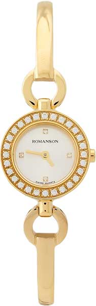 Женские часы Romanson RM5A19QLG(WH) romanson rm 6a31c lw wh