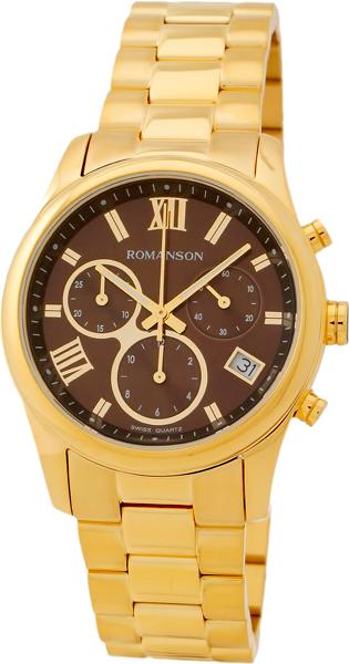 Женские часы Romanson RM6A01HLG(BROWN) romanson rm 9207q lj gd