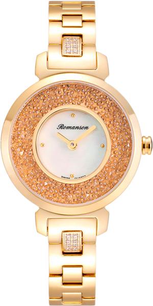 Женские часы Romanson RM6A36QLG(WH) romanson rm 6a31c lw wh