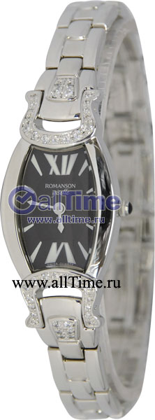 Женские часы Romanson RM7209QLW(BK) romanson rm 6a31c lw wh