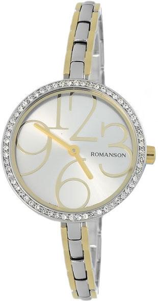 Женские часы Romanson RM7283QLC(WH) romanson часы romanson rm5113qlc wh коллекция giselle