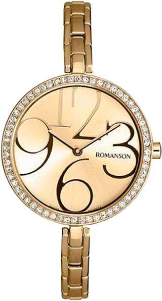 Женские часы Romanson RM7283QLG(GD) женские часы romanson rm8276lg gd