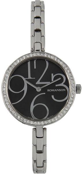 Женские часы Romanson RM7283QLW(BK) romanson rm 6a31c lw wh