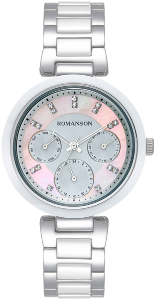 Женские часы Romanson RM7A01FLW(PK) romanson rm 6a31c lw wh