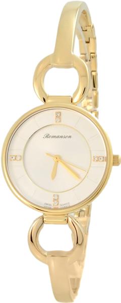 Женские часы Romanson RM7A04LLG(WH) romanson rm 6a31c lw wh