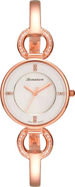 Женские часы Romanson RM7A04QLR(WH) romanson rm 6a31c lw wh