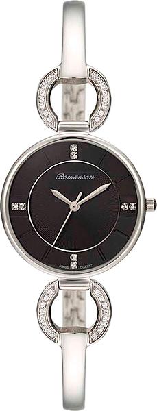 Женские часы Romanson RM7A04QLW(BK) hand around черный стальной браслет