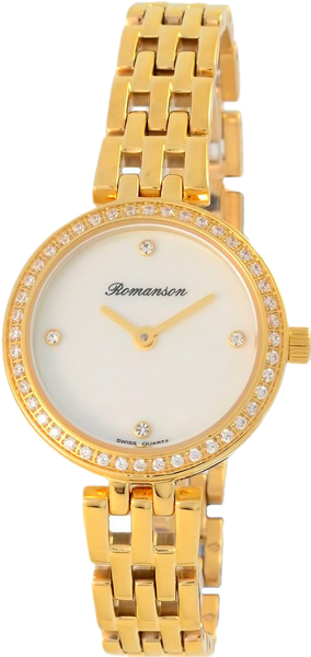 Женские часы Romanson RM7A07QLG(WH) romanson rm 6a31c lw wh