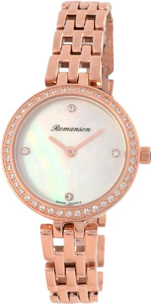 Женские часы Romanson RM7A07QLR(WH) romanson rm 6a31c lw wh