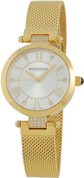 Женские часы Romanson RM7A16QLG(WH) romanson rm 6a31c lw wh
