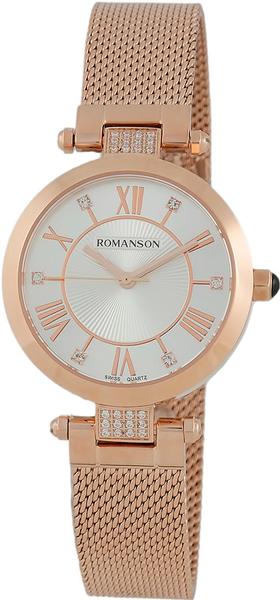 Женские часы Romanson RM7A16QLR(WH) romanson rm 6a31c lw wh