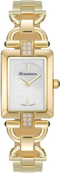 Женские часы Romanson RM7A17QLG(WH) romanson rm 6a31c lw wh