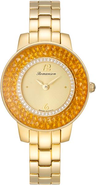 Женские часы Romanson RM7A29QLG(GD) женские часы romanson rm9a23llg gd