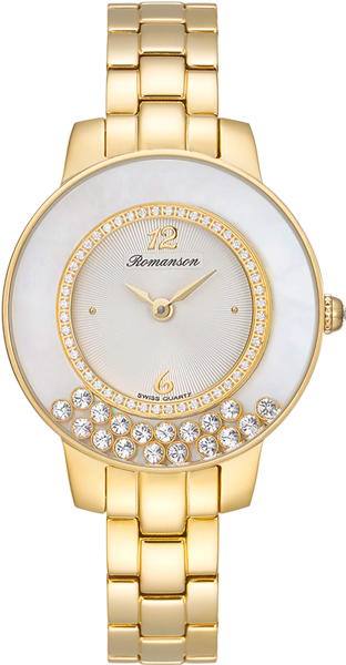 Женские часы Romanson RM7A30QLG(WH) romanson rm 6a31c lw wh